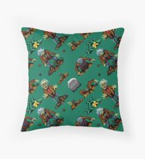 Zombies Ate My Neighbors funny zombies pattern GGL8R Throw Pillow