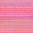 Pink Boho Stripes Pattern by blueskywhimsy
