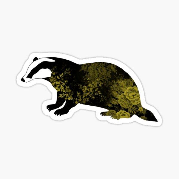 Floral Badger Sticker