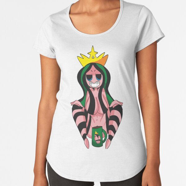 Coffee FAN ART Camiseta premium de cuello ancho