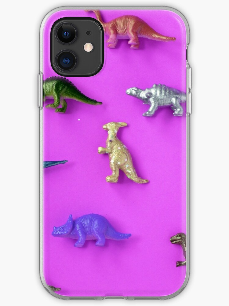 Neon Pastel Metallic Dinosaurs Variety Toys Wallpaper Iphone Case Cover By Illeanalior Redbubble