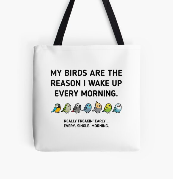 Early Birds All Over Print Tote Bag