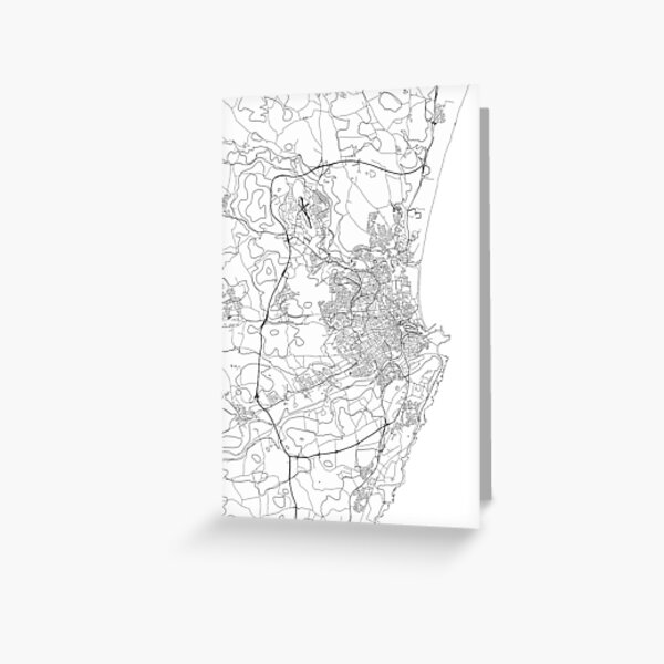 Aberdeenshire map poster print wall art, United Kingdom gift printable, Home and Nursery, Modern map decor for office, Map Art, Map Gifts Greeting Card