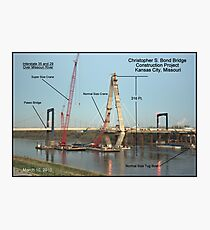 "Christopher S. ""Kit"" Bond I-29/35 Bridge Construction Project Photographic Print"