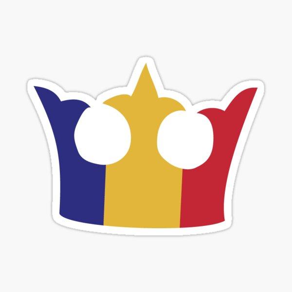 Queens Tricolour Crown Sticker