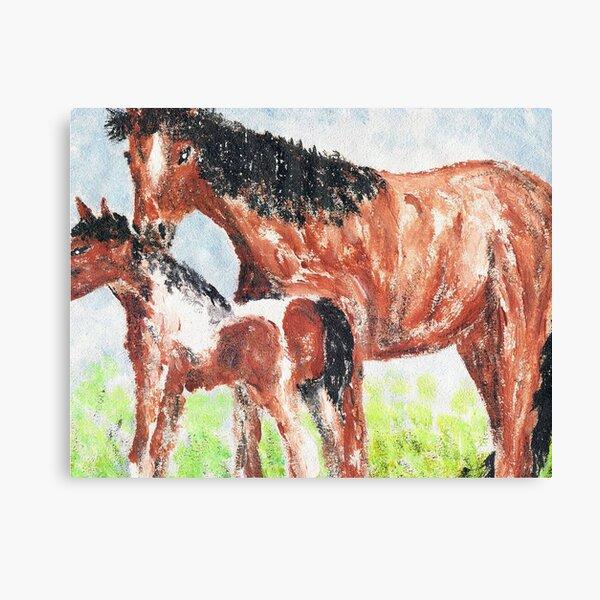 Horses Together Canvas Print