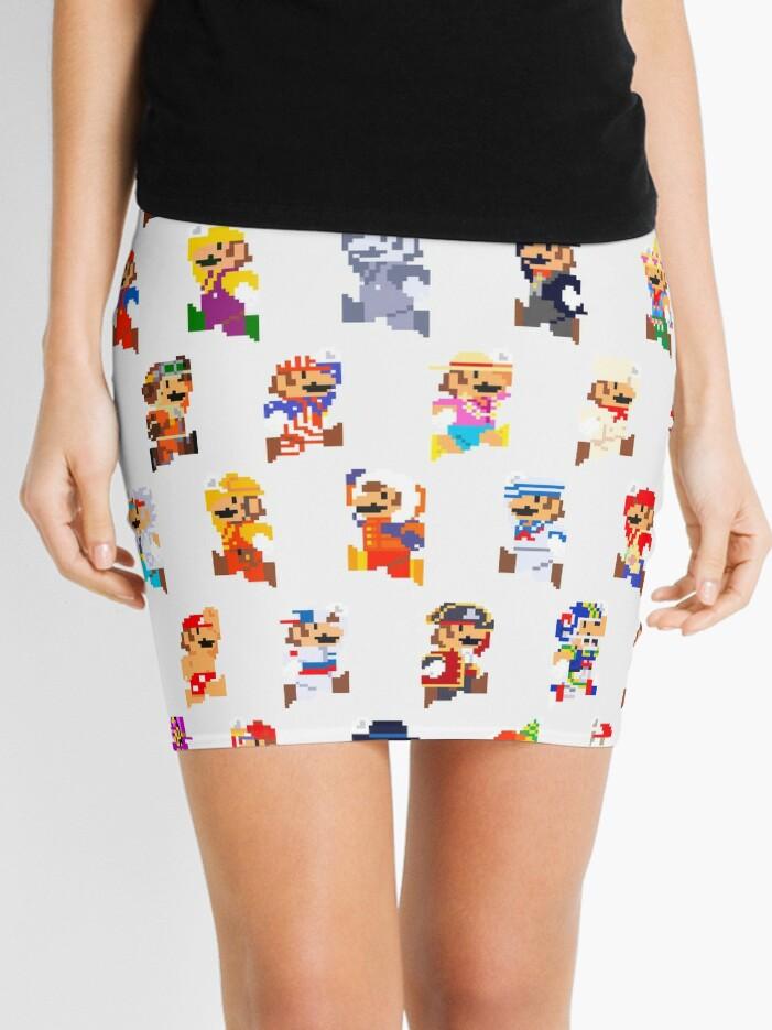 Mario Pixel Sprite Costumes Super Mario Odyssey Pixel Art Minijupe