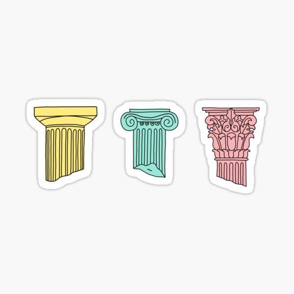 greek orders - columns Sticker