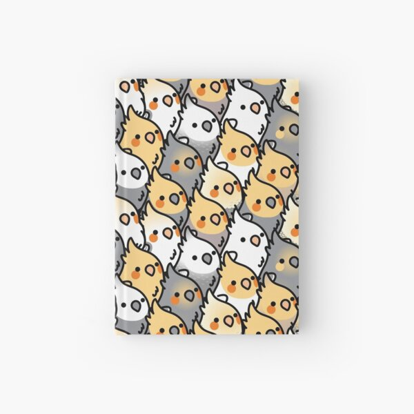 Chubby Cockatiel Party Hardcover Journal