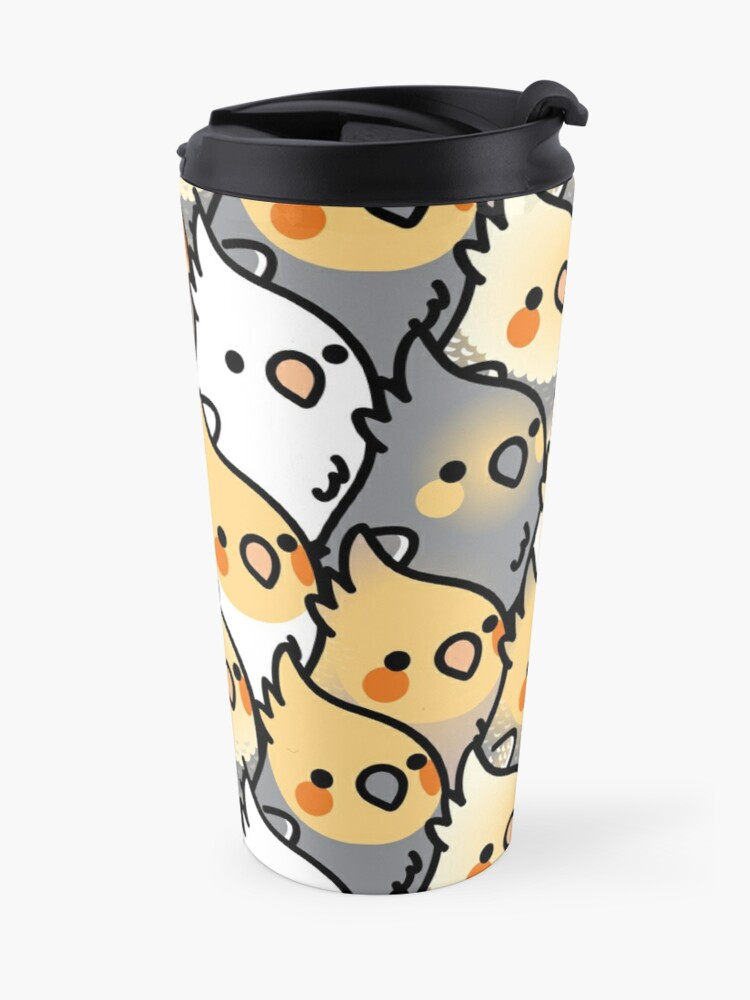 Alternate view of Chubby Cockatiel Party Travel Mug