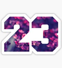 """23"" Cute Vintage Print Sticker"