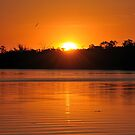 A Murray River Sunset by Wayne England