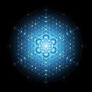 Blue microdot | Sacred geometry mandala by Natasha Sedyakina
