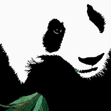 Panda by bamboo