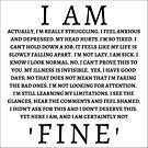 I Am 'Fine' by zacpphillips