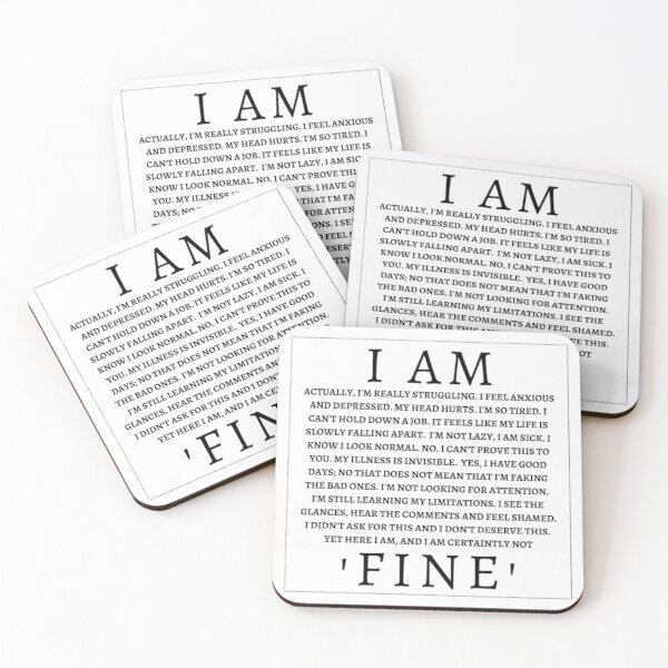 I Am 'Fine' Coasters (Set of 4)