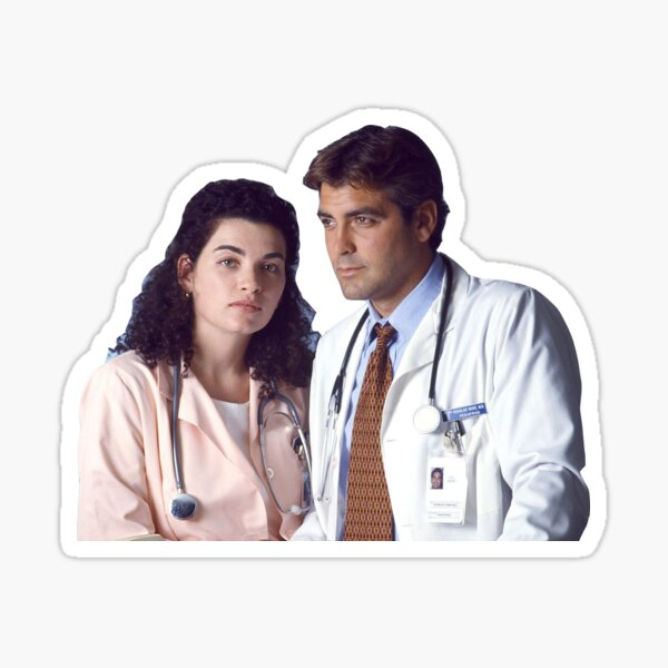 ER Carol Hathaway and Doug Ross Sticker