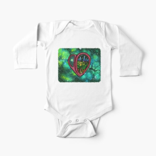A Wild, Unspoiled Land Long Sleeve Baby One-Piece