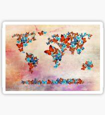world map  Sticker
