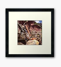 Splash mountain Framed Print