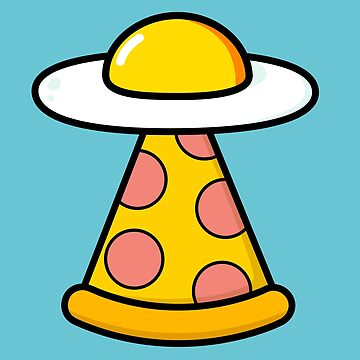 Food Loving Egg Pizza  UFO Sci Fi by happinessinatee