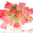 Pink Tulips in Vase by Catherine Wood