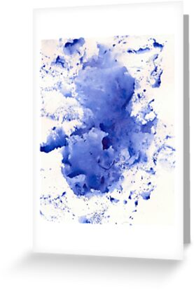 Royal Blue Splotch by Tiare Smith