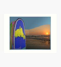 Beach art ... be13 Art Print