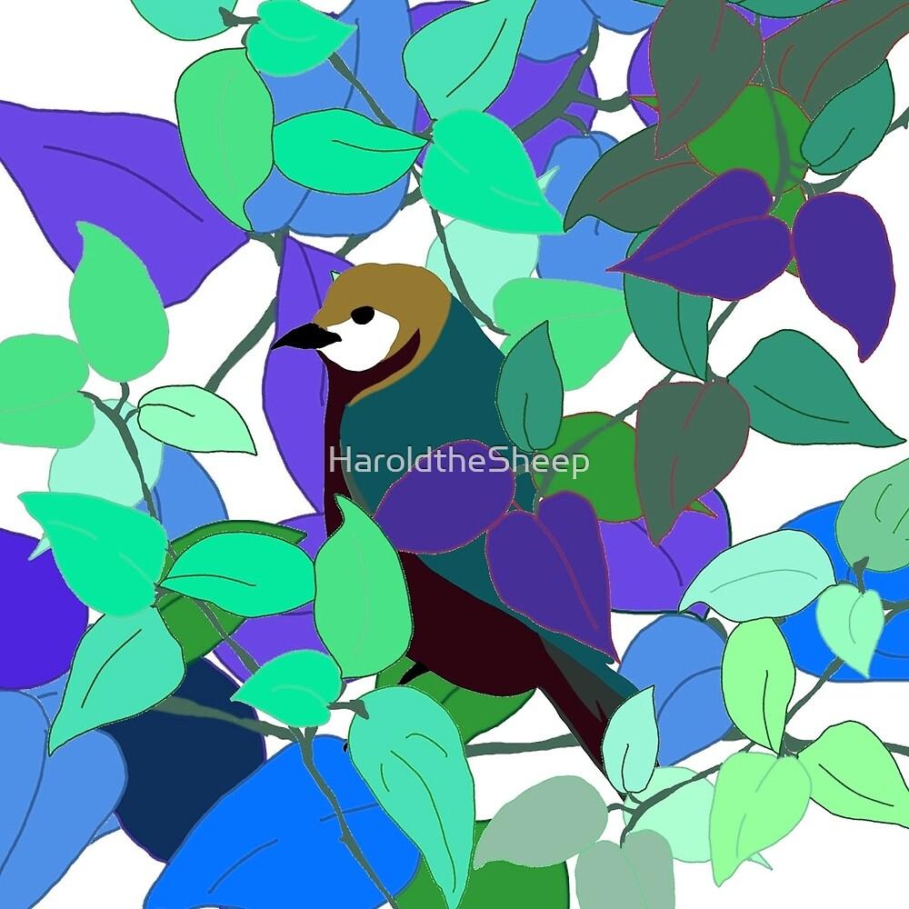 Garden Bird - Blue by HaroldtheSheep