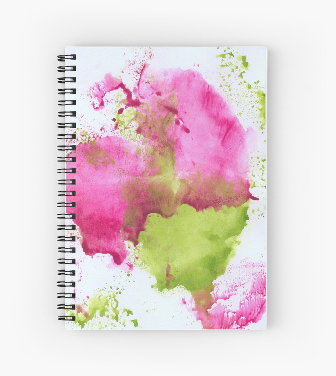 Pink and Green Splotch by Tiare Smith