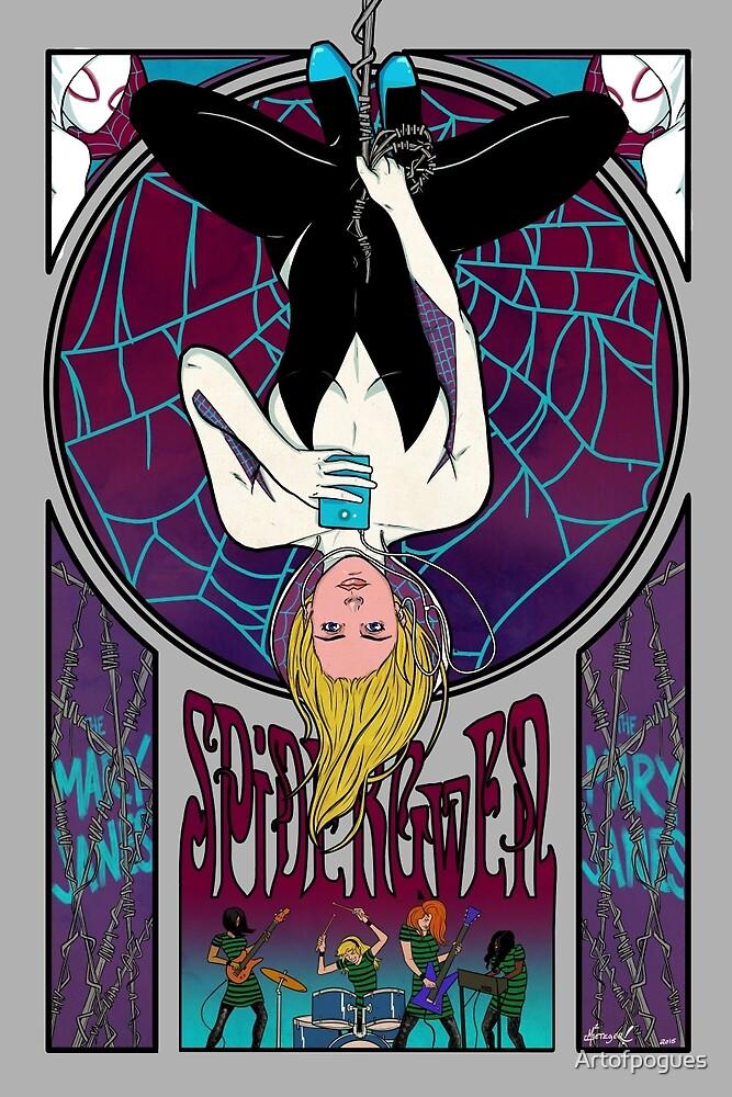 Spidergwen Art Nouveau by Artofpogues