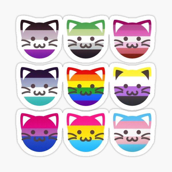 LGBTQ+ Pride Cat Pack (Read Artists Note) Sticker