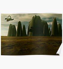 Stalagmite Landscape Poster