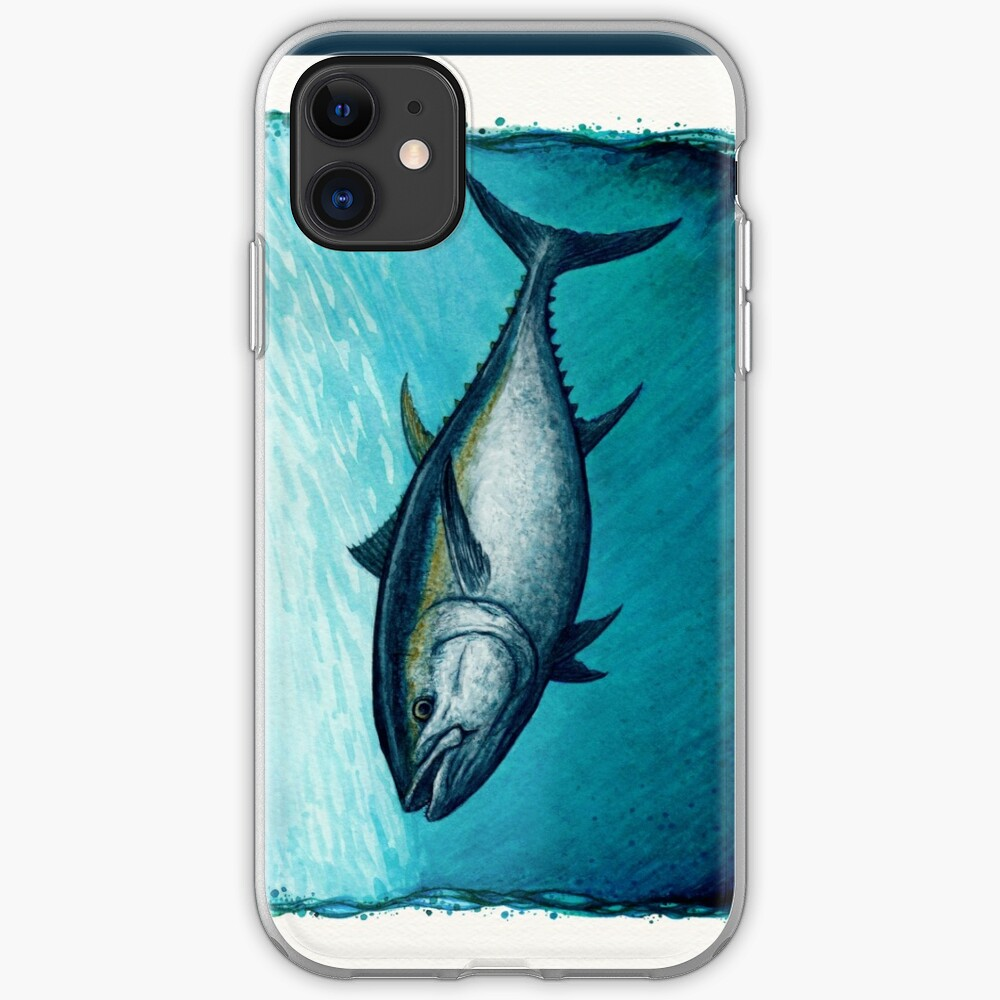 """Bluefin Tuna"" by Amber Marine ~ Watercolor painting, art © 2016 iPhone Soft Case"