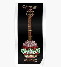 zombie music guitar print... Poster
