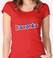 Bazooka retro bubble gum Women's Fitted Scoop T-Shirt
