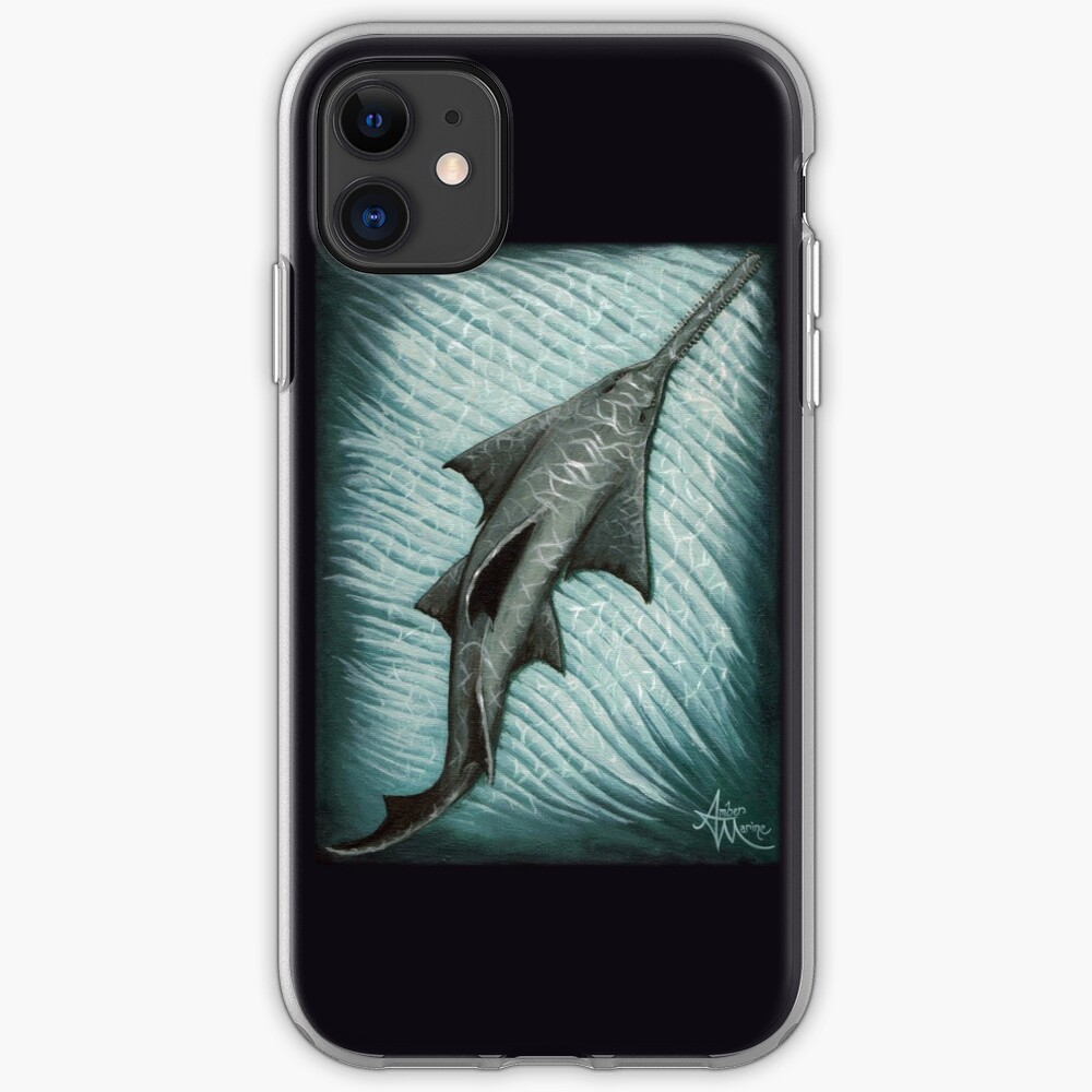 """Sawfish"" by Amber Marine ~ Acrylic painting, art © 2015 iPhone Soft Case"