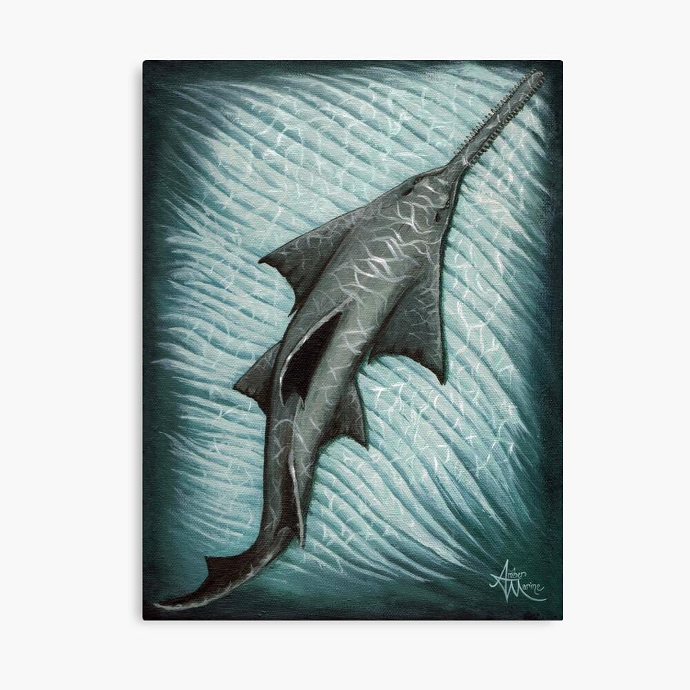 """Sawfish"" by Amber Marine ~ Acrylic painting, art © 2015 Canvas Print"