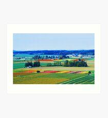 Over Skagit Valley Art Print