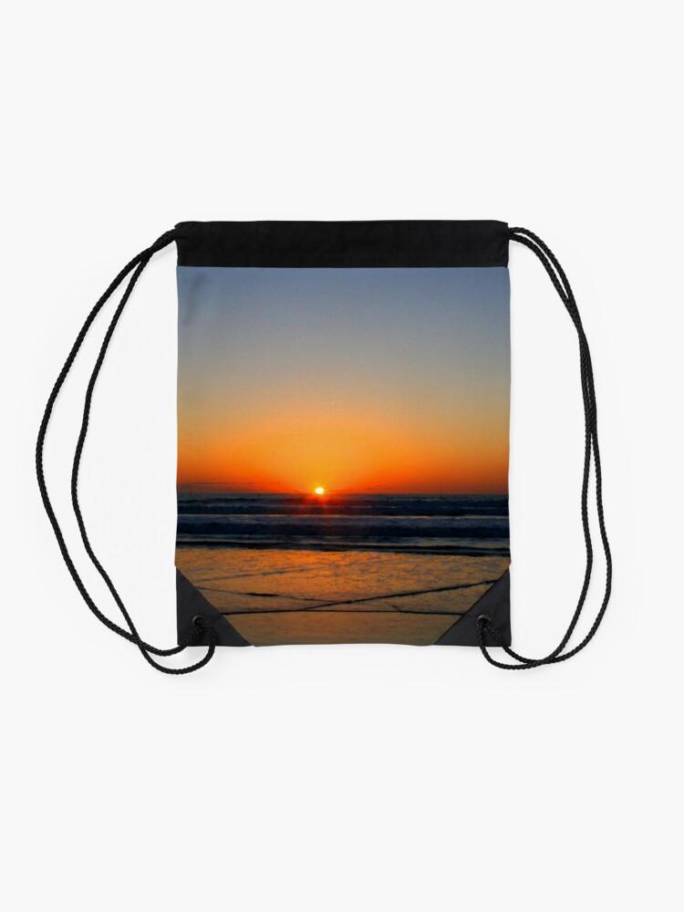 Alternate view of Beach art ... be17 Drawstring Bag