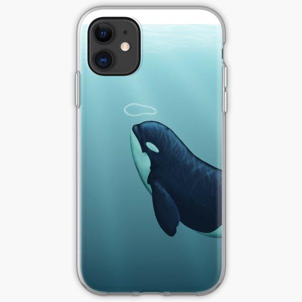 """Subantarctic"" by Amber Marine, type D orca art, © 2014 iPhone Soft Case"