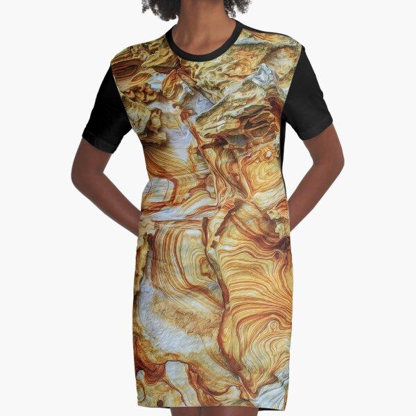 Sandstone Cliff 190227#3 Graphic T-Shirt Dress