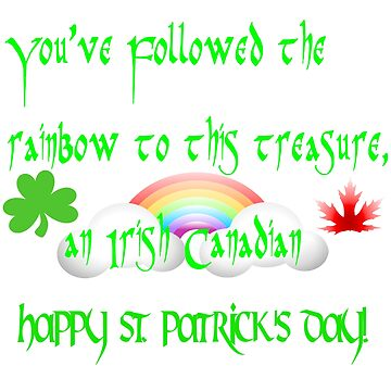 St. Patrick's Day Irish Canadian Stickers and More by CheekyPuppy