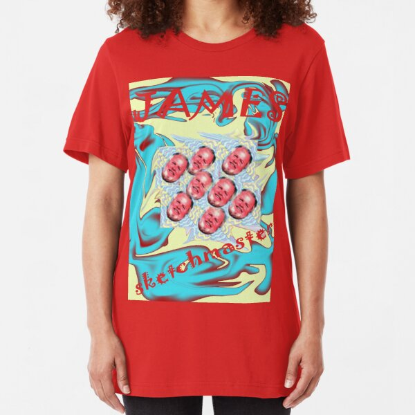 a red bubble dynamo Slim Fit T-Shirt