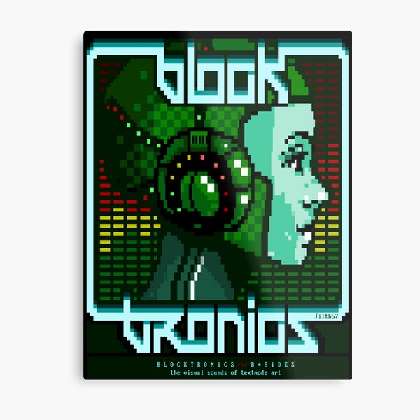 .nfo Cover for Blocktronics B-Side Release Metal Print