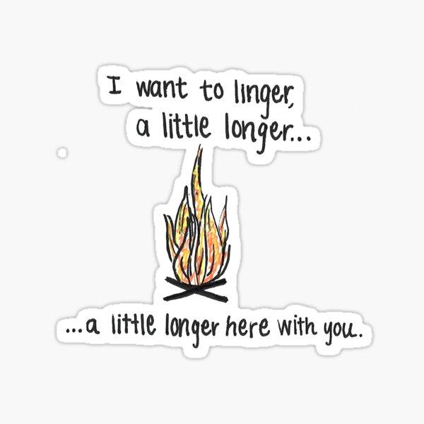 Linger Campfire Doodle Sticker