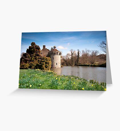Springtime at Scotney Castle: Kent Greeting Card