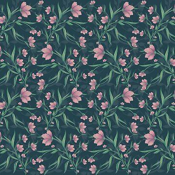 Moody Mystic Flowers by mitalim