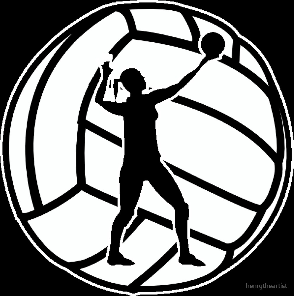 Women's Volleyball Shield by henrytheartist