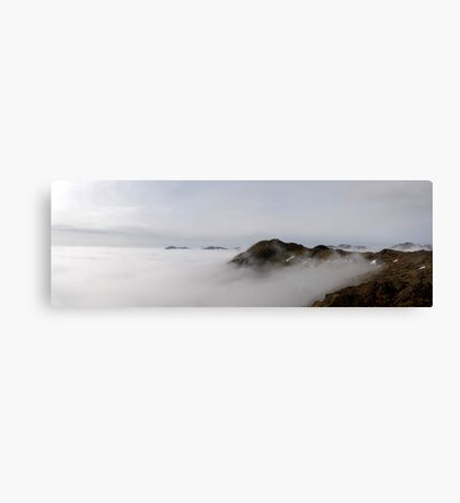 Harrison above the Clouds Canvas Print